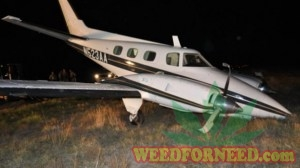 The plane that landed full of marijuana at Houston Executive Airport